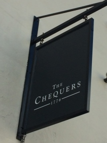 Chequers pub sign